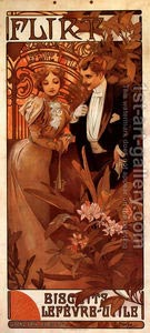 Romantic Art - Alphonse Mucha-Flirt