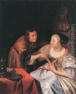 Romantic Art - Carousing Couple
