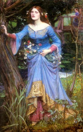 Romantic Art - Ophelia - JW Waterhouse