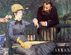 Romantic Art - Manet - In The Conservatory