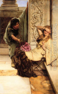 Romantic Art - Shy - Alma Tadema