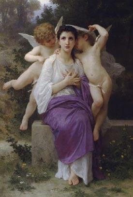 Romantic Art: The Hearts Awakening - Bouguereau