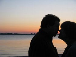 Romantic Moment on beach in Kiel