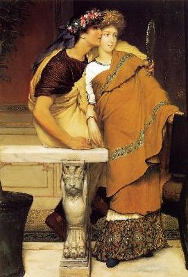 Romantic Painting: The Honeymoon: Sir Lawrence Alma-Tadema