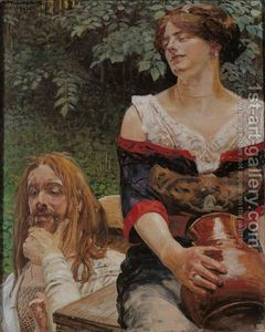 Romantic Art - Christ and the samaritan Woman