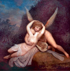 Romantic Art-Cupid and Psyche