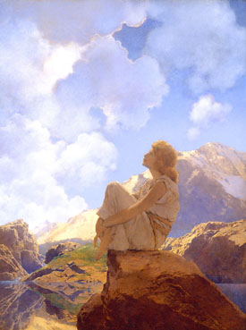 Romantic Art - Morning-Maxfield Parrish