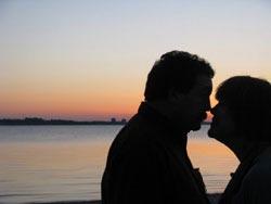 Romantic Moment on beach in Kiel